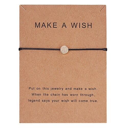Регулируемый браслет с бумажными карточками в форме бабочки, звезды, короны, Круглый тканый браслет ручной работы, Простые Модные женские ювелирные изделия, подарки - Окраска металла: 16