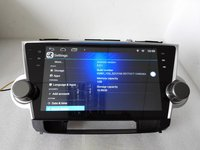 10.1inch 1024x600 quad core Android 7.0 for toyota highlander ,car deckless gps navigation,radio video,3G,Wifi,Capacitive screen