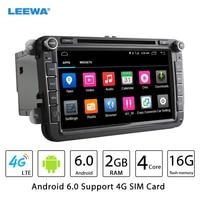 8 calowy Android 6.0 (64bit) DDR3 2G/16G/4G LTE Samochód DVD GPS Radio Dla Skoda Octavia/Seat Altea/Leon/Tolendo/Alhambr # CA4560