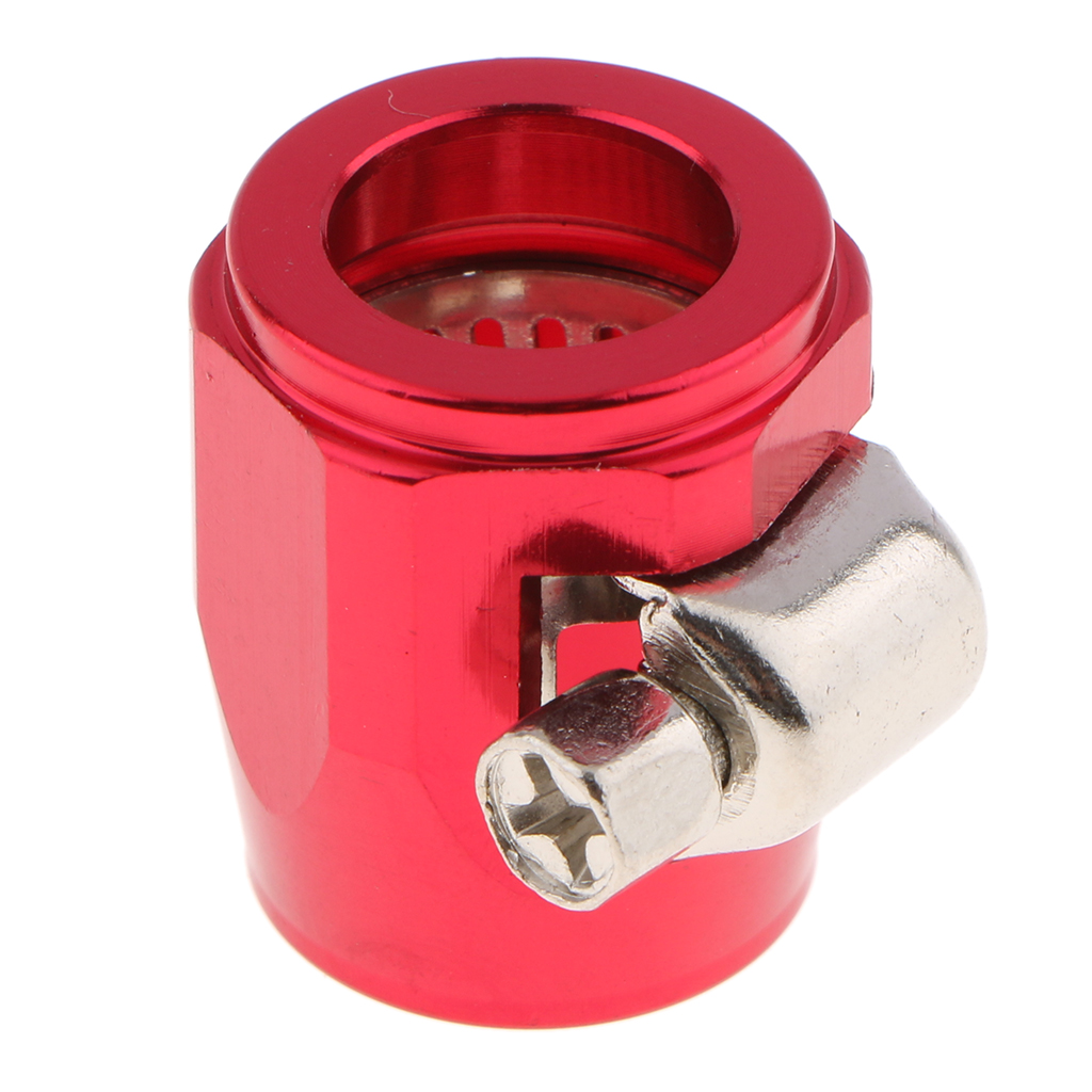 AN6 Universal Car Hose End Finish Fuel Oil Water Line Clamp Cli Aluminum Alloy 20x25mm