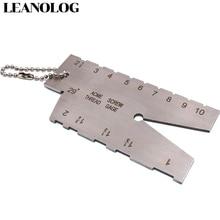 цена на Stainless Steel Screw thread Cutting angle gage Gauge Measuring Tool Welding Inspection Ruler 29 Degree ACME Screw Thread Gauge