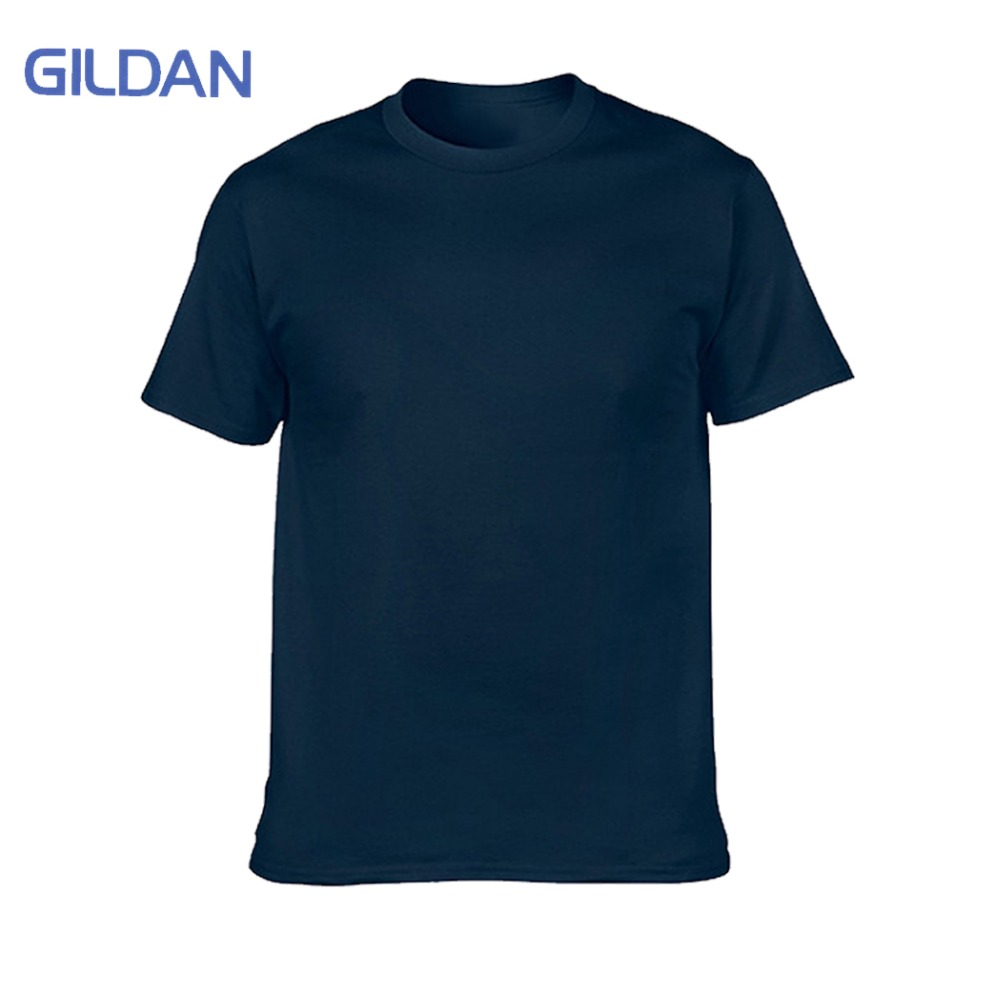 GILDAN marca en blanco camiseta hombres de manga corta Camisetas sólido 100% algodón Homme camiseta 3XL verano hombres ropa más tamaño