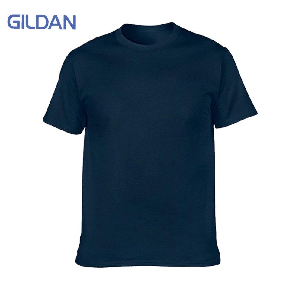 GILDAN marque T-Shirt blanc hommes à manches courtes t-shirts solide 100% coton Homme T-Shirt 3XL été hommes vêtements grande taille