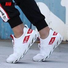 Популярные мужские спортивные кроссовки из сетчатой ткани (Air Mesh), дышащие кроссовки для бега, повседневные однотонные спортивные кроссовки на шнуровке