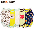 2016 New Fashion Kids Boys Clothes Cartoon Car Rompers Boys&Girls Baby Rompers Short Sleeve 3Pieces/lot 15-087/088