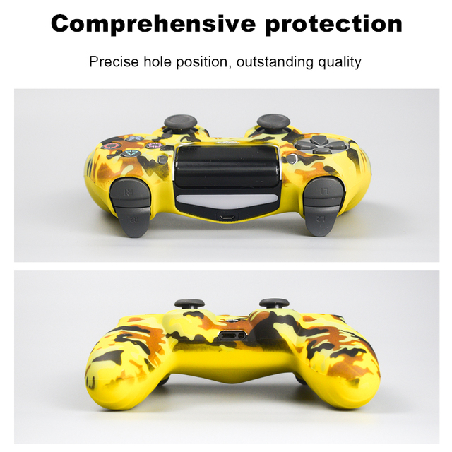 Data Frog Soft Silicone Gel Rubber Case Cover For SONY Playstation 4 PS4 Controller Protection Case For PS4 Pro Slim Gamepad 1