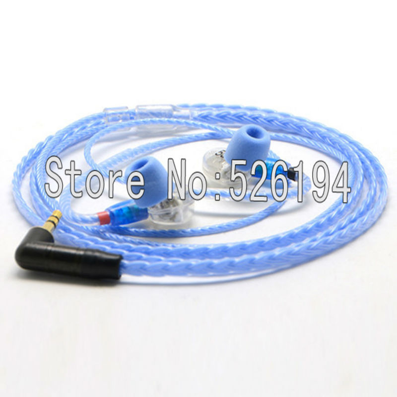 ФОТО Free shipping 1.2 meter/pieces 5N OFC Westone headphone cable for SE215 SE315 SE425 SE535 UE900