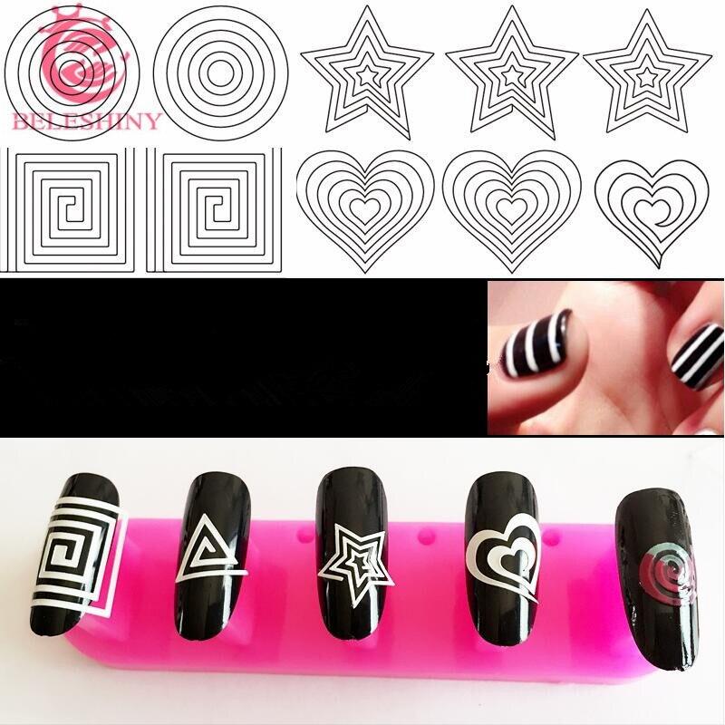 Online Shop BELESHINY 12pcs/lot news French stickers 3d Beauty ...