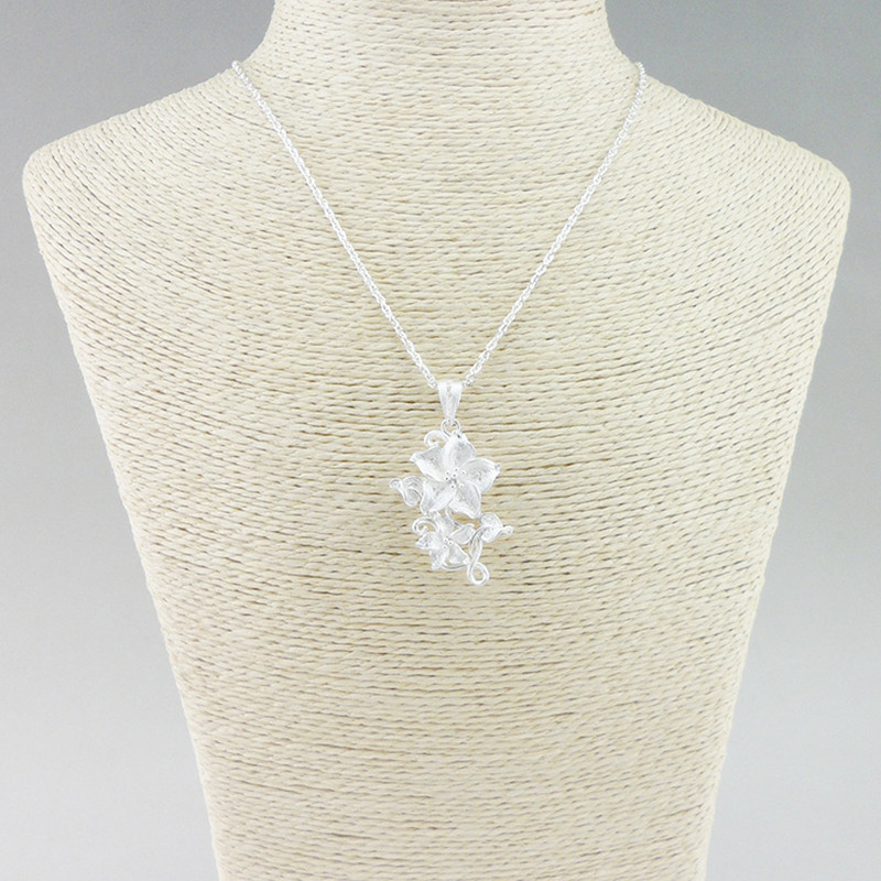 Luxury Jewelry 999 Sterling Silver Pendant Necklace Women Accessories Flower Necklaces Pendants Ethnic Miao Silver Handmade in Pendants from Jewelry Accessories