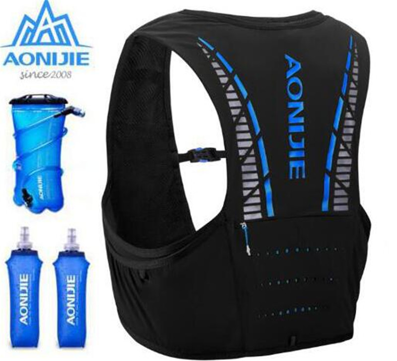 AONIJIE 5L Hydration Backpack Rucksack Bag Vest Marathon Cycling Climbing Water Backpack Harness Water Bladder Running