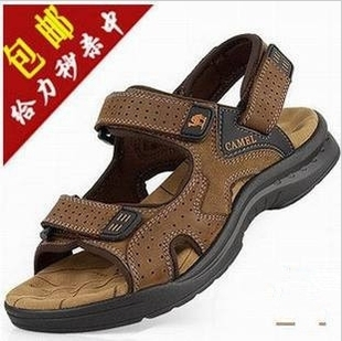 Authentic sandals male breathable shoes leather slippers men beach male  sandals