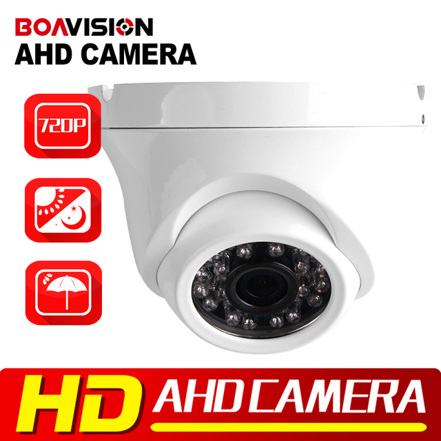 CCTV 720P 1.0MP/2MP AHD Camera Analog HD Mini Outdoor Metal Dome With IR-CUT Night Vision 20m IR CCTV Security 1080P AHD Camera