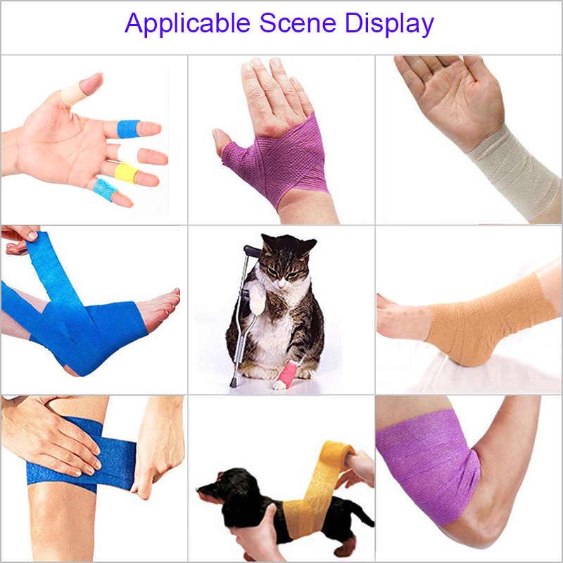 4.5m renkli Elastoplast kendinden yapışkanlı elastik bandaj Tom's sarılmak spor diz parmak ayak bileği palmiye omuz atletik bant