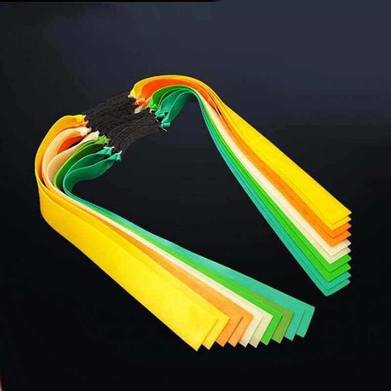 Faixa de borracha lisa thicknes 0.5-0.8mm 8 cores catapulta látex natural liso elástico resiliente para fotografar