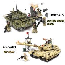 XINGBAO 06015/06021 Military Series Building Blocks The Scorpio Tiger Tank Set Building Blocks Compatible LegoINGlys Military