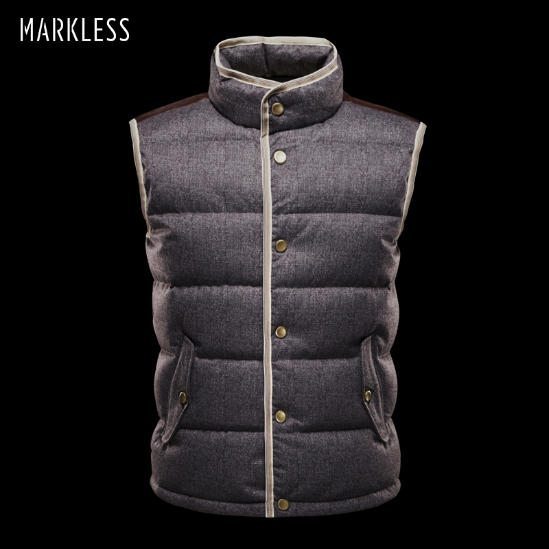 Markeless 2018 Men High-end seamless Down Vest Autumn And Winter Coats Vest Down Man Brand Clothing Casual Gilet Down new heated down vest usb charging vest skiing hiking camping winter men vest down keep body warm blue black size s xxl
