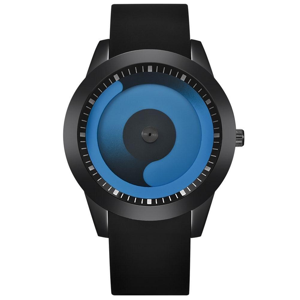 Wholesale Creative Women Men Gradient Flow Analog Round Dial Quartz Wrist Watch Lover Gift
