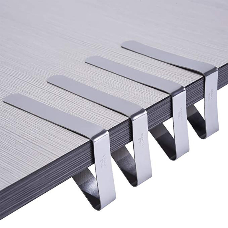 Pcs Tablecloth Clips Stainless Steel Outdoor Picnic Table Cloth - Stainless steel picnic table
