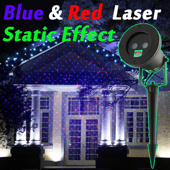 outdoor christmas light laser projector red blue static effect new year holiday laser lights show garden decorations in stage lighting effect from lights