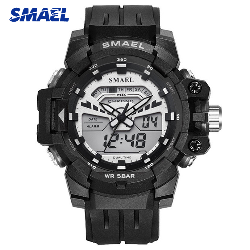 2019 New SMAEL Sports Mens Watches Top Brand Military LED Quartz Watch Men Digital Waterproof S Shock Clock relogio masculino2019 New SMAEL Sports Mens Watches Top Brand Military LED Quartz Watch Men Digital Waterproof S Shock Clock relogio masculino