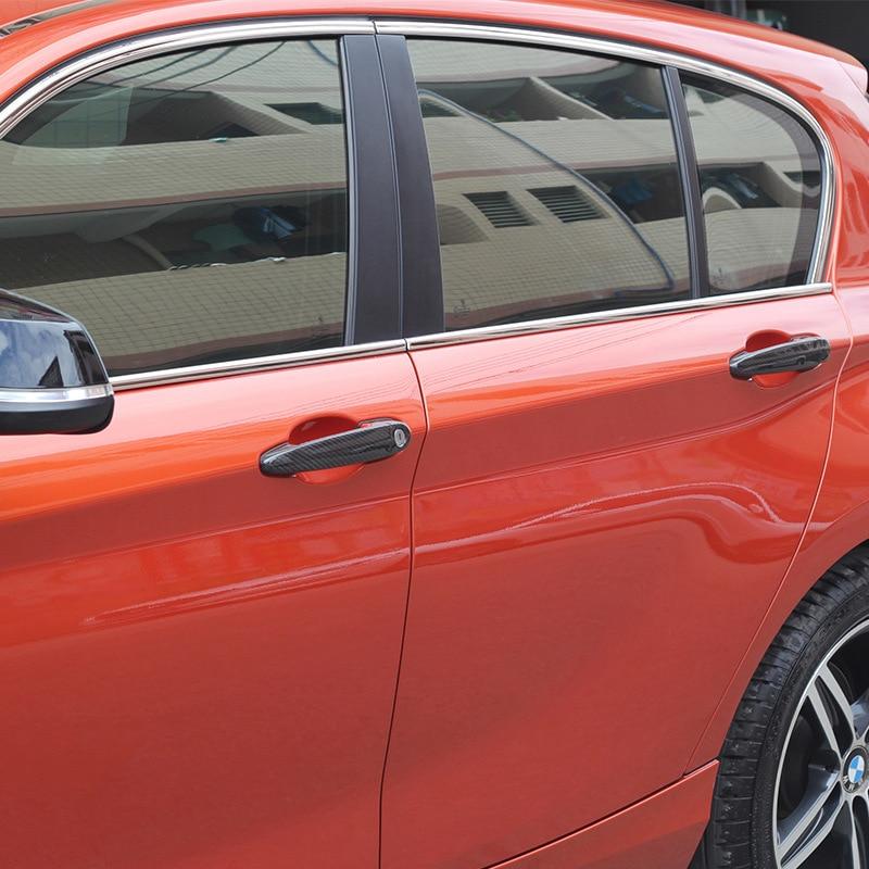 8шт/комплект высокое качество углеродного волокна хромированный ручка двери автомобиля стикер для BMW Е30 Е36 Е46 Е39 Е60 Е90 м3 М4 М6 и так далее