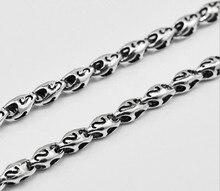 925 стерлингового серебра мужская с длинным толстая цепь ожерелья тайский серебряное ожерелье 45 см до 60 см (HY)