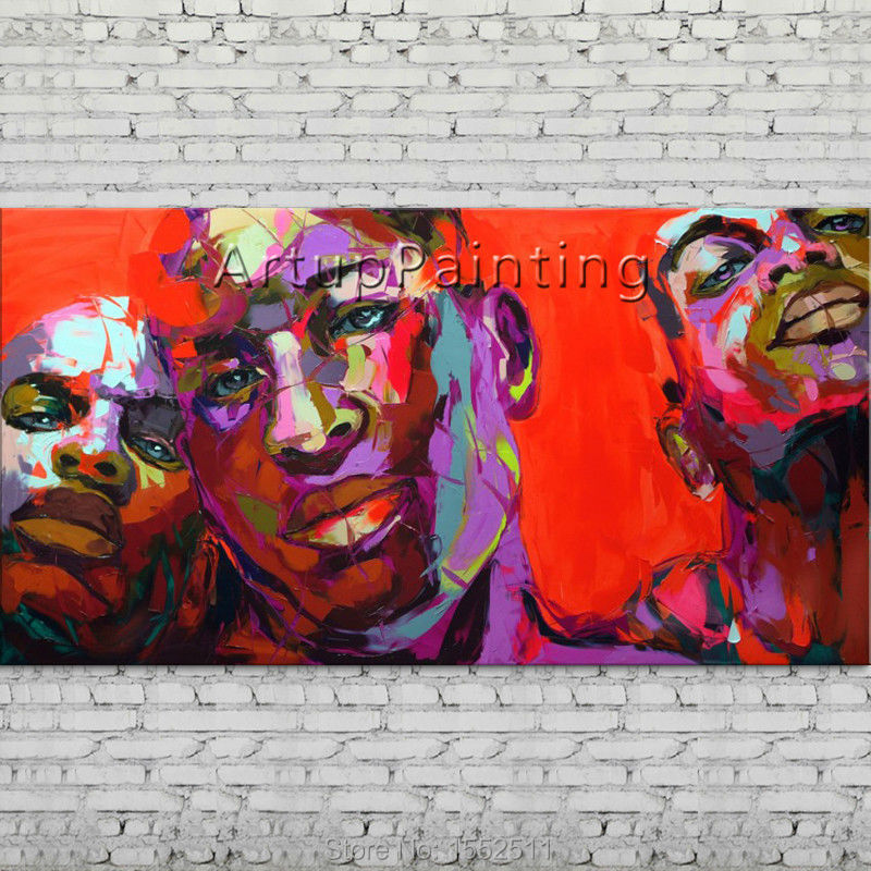 Palette knife portrait Face Oil painting Character figure canva Hand painted Francoise Nielly wall Art picture 06-10-1f1Palette knife portrait Face Oil painting Character figure canva Hand painted Francoise Nielly wall Art picture 06-10-1f1