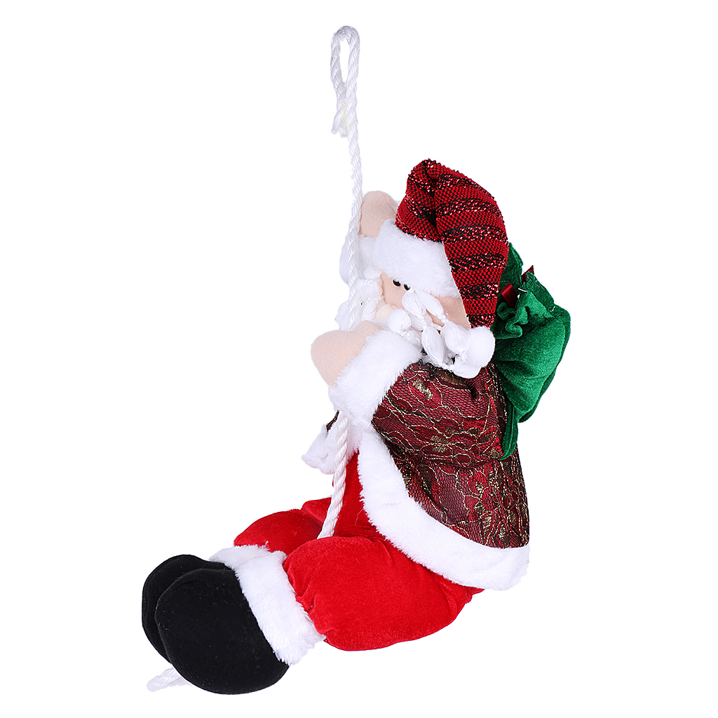 unisex xmas christmas toy animated santa claus climbing