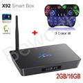 X92 Amlogic S912 Octa-Core Android 6.0 TV BOX 2GB 16GB 2.4/5.8G Dual Wifi 4K H.265 BT4.0 KODI Smart with Russian i8 Backlight