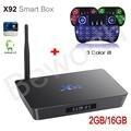 X92 S912 Amlogic Octa-Core Android 6.0 TV BOX 2 GB 16 GB 2.4/5.8G Dual Wifi 4 K H.265 BT4.0 KODI Backlight Inteligente com i8 Russa