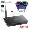 X92 S912 Octa-core Android 6.0 TV BOX Amlogic 2 GB 16 GB 2.4/5.8G Dual Wifi 4 K H.265 BT4.0 KODI Retroiluminación Inteligente con i8 Ruso
