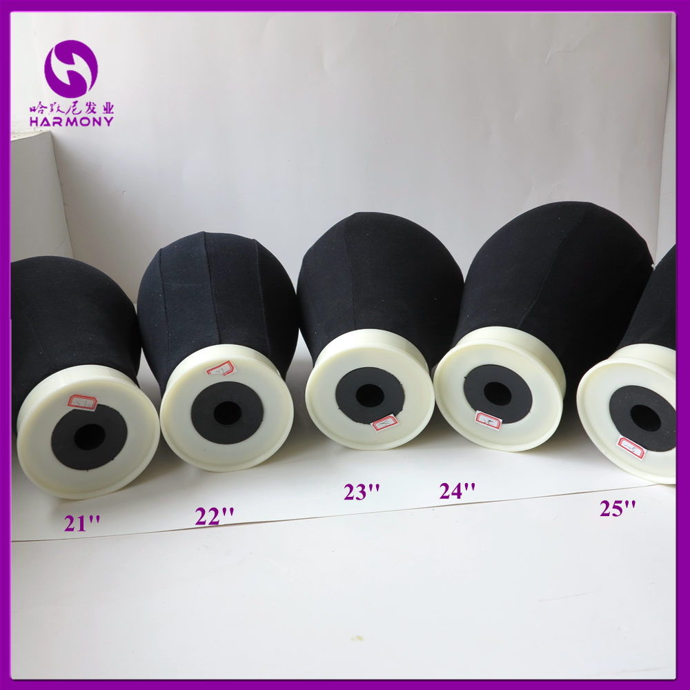1 Stycke Svart 21 '' - 25 '' Canvas Block Mannequin Head Cotton - Hårvård och styling - Foto 4
