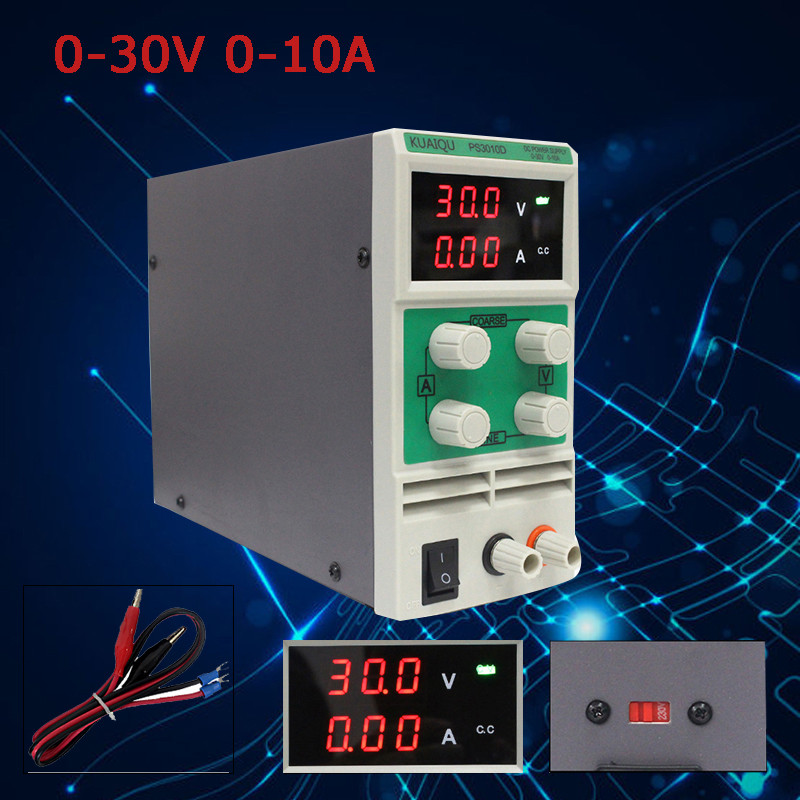 0.1V/0.01A Digital display 30V 10A Adjustable DC power supply laboratory Voltage regulator Switching power supply cps 3010ii 0 30v 0 10a low power digital adjustable dc power supply cps3010 switching power supply