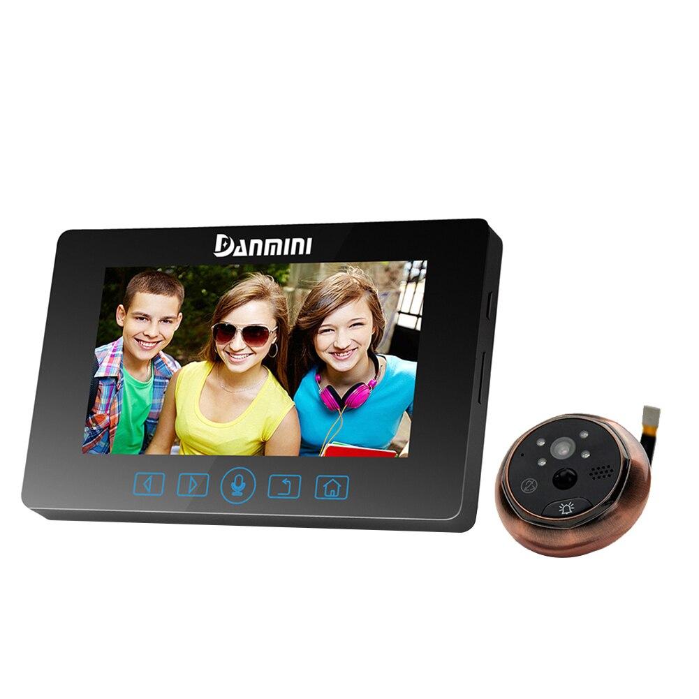 4,3-дюймовый HD-Дисплей Цвет экран не мешая Электрический Кот дверной звонок камера Eye светодиодный цифровой просмотра двери с ночного видения