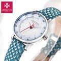 Relógios Das Mulheres JULIUS marca de luxo 2016 Moda Casual relógio de quartzo de couro Relógio de pulso Da Senhora Menina Vestido relogios femininos