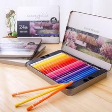 Colored-Pencil-Set Art-Supplies Oil-Painting Lapis-De-Cor Drawing Deli for Write Oily
