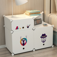 Fashion DIY New Storage Box Plastic Reinforced Clothing Organization Wardrobe Home Bedroom Simple Bedside Table