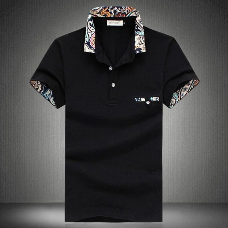 Polo Nové 2019 Casual Camisa Polo Shirt Pánské Značka Bavlna Krátký rukáv Pánské Polo Designer Značka Solid Polo Shirt Velikost 5xl  t