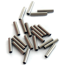 500 Pcs Dia 2.0mm Stainless Steel Fishing Line Aluminum Crimp Sleeve Copper Tube Sea Fishing Accessory Crimp Sleeves Line Tube