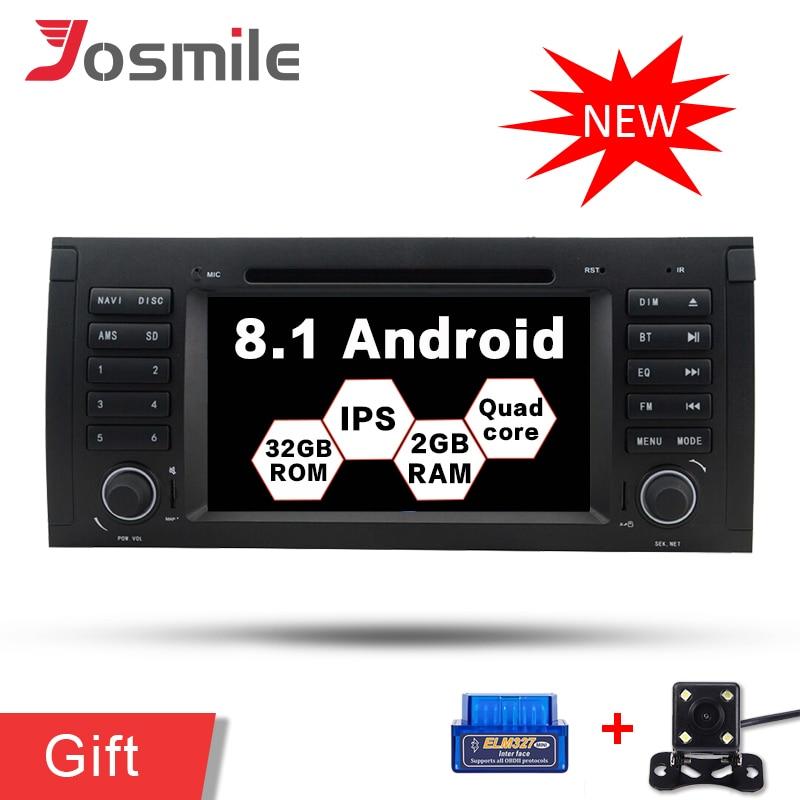 Android 8.1 Voiture GPS Lecteur Pour BMW 5 Série/X5 E53 E39 Multimédia Radio DVD Navigation IPS 2g RAM 32g ROM Canbus DSP Wifi DAB +