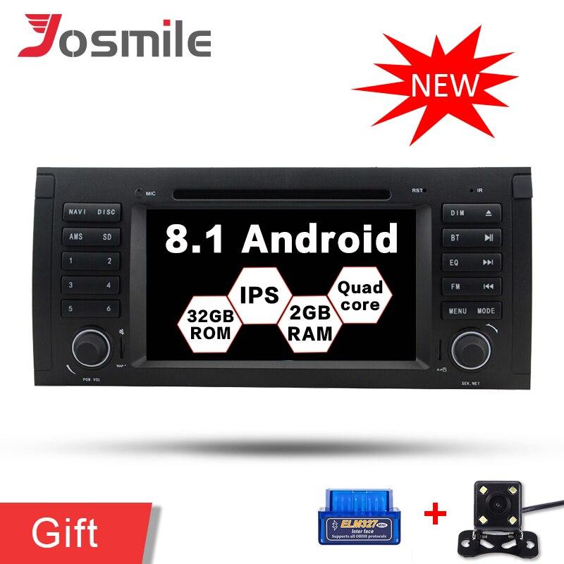 Android 8.1 Voiture GPS Lecteur Pour BMW 5 Série/X5 E53 E39 radio multimédia DVD Navigation IPS 2G RAM 32G ROM Canbus DSP Wifi DAB +