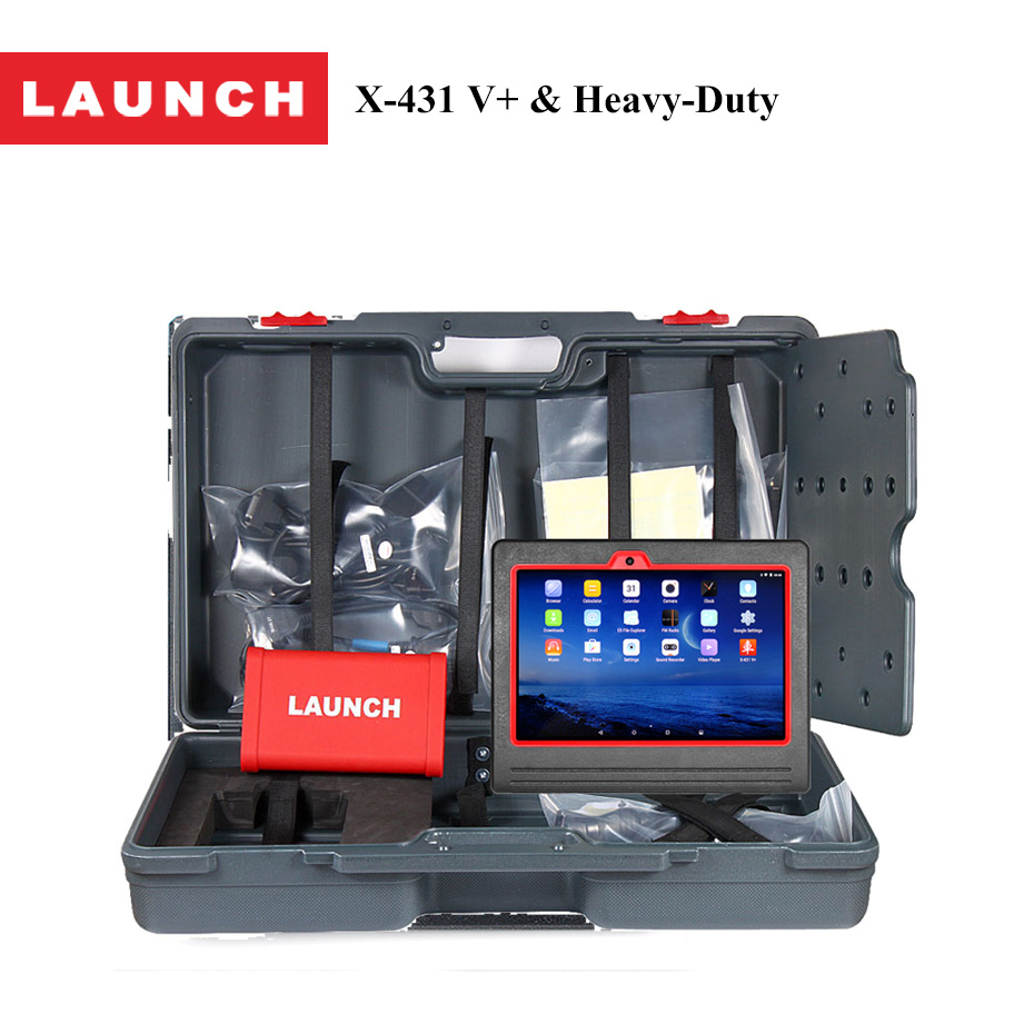 LAUNCH X431 V+ HD Auto Diagnostic Tool for Heavy Duty truck Bluetooth Wifi Mutimeters Analyzers with Heavy Duty Model