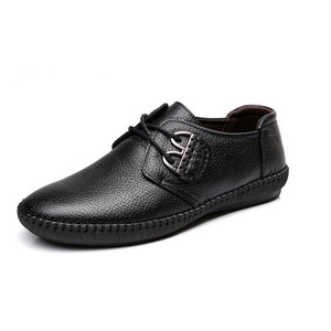 Image 2 - Mens Fashion cow Leather Shoes Working Shoes Lace Up Business Casual Genuine Leather Shoes Flats Male sneaker Zapatos De Hombre