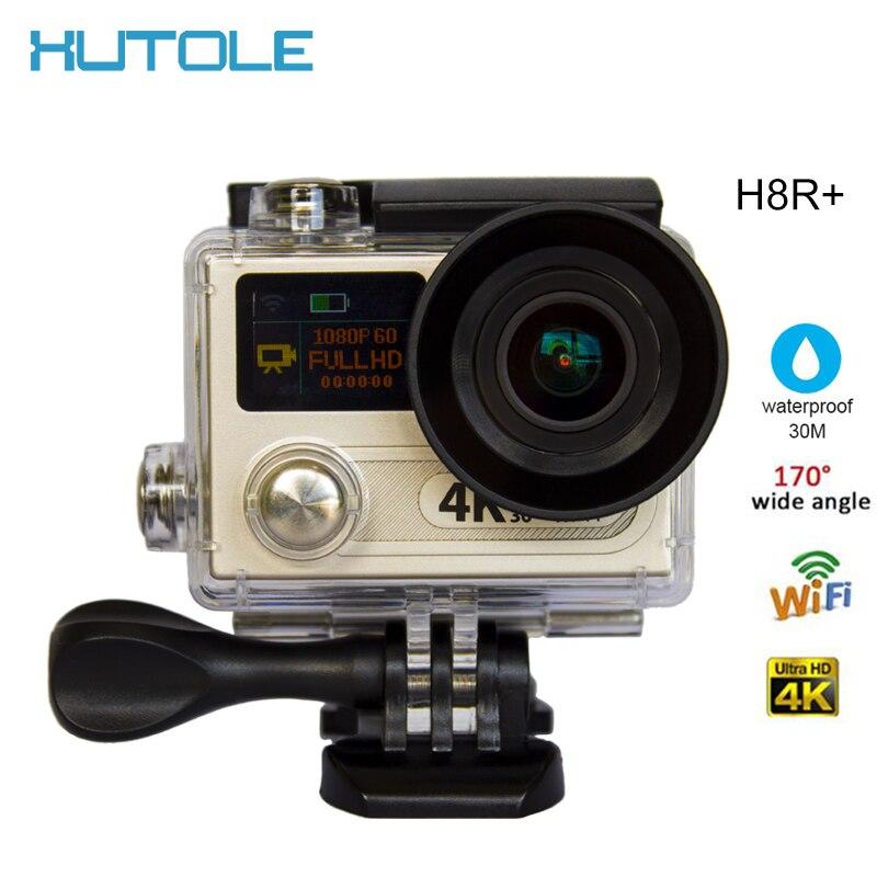 "H8R+Ulrta 4K 60fps HD Action Digital sport Camera  2.0"" Dual Screen DV Cam Underwater 30M 170D lens  Waterproof  Video Camcorder"