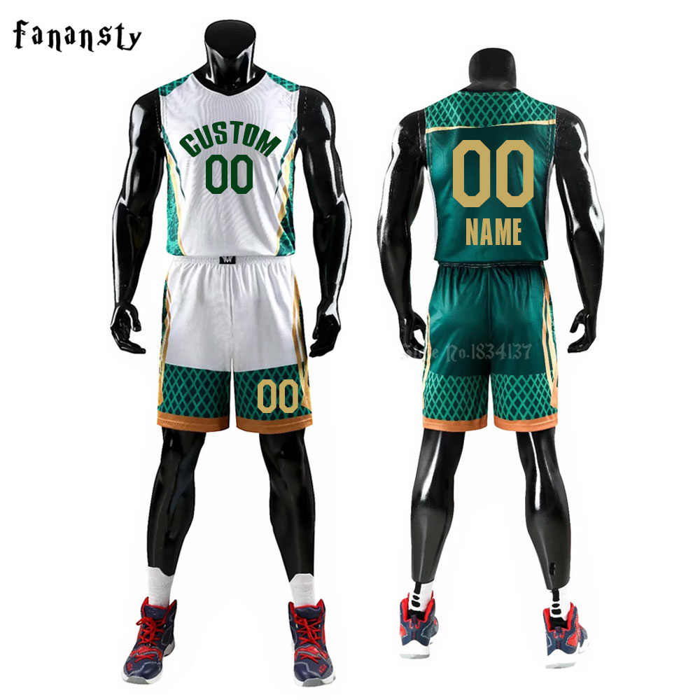 a004392026ed Men Basketball Uniforms Set Mens Sports Suits Breathable Quick dry Custom  kids Cheap Chlid Basketball Jerseys
