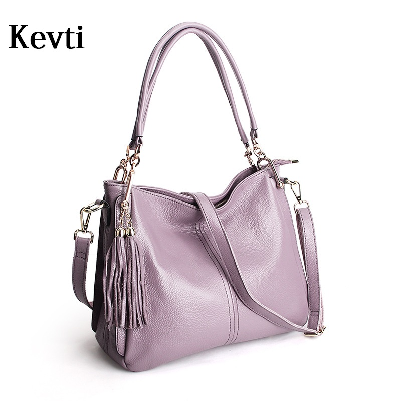 Real Genuine Leather Women Handbag High quality Cowhide Female Shoulder Bag KEVTI Brand Ladies Fashion Tote bag Messenger Girls  kevti brand genuine leather women handbag high quality cowhide female shoulder bags casual crossybody bag european style hobos