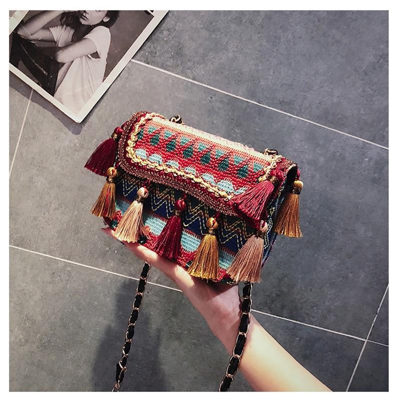 Bolsos de cintura de mujer PU borla personalidad coreana Lingge moda Retro bolsas para mujeres Paquete de cintura bolsa de lujo pecho bolso de mano cinturón bolsa-in Riñoneras from Maletas y bolsas    1