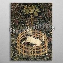5d Diy Diamond Painting Cross Stitch Embroidery Unicorn in Captivity Mosaic Full Rhinestone Gifts Home Decor