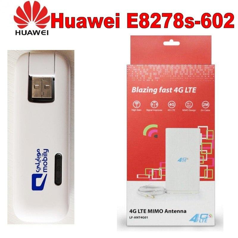 NEW UNLOCKED HUAWEI E8278 4G LTE USB WIFI DONGLE UPTO 10 USERS MOBILE BROADBAND +4g antenna цена