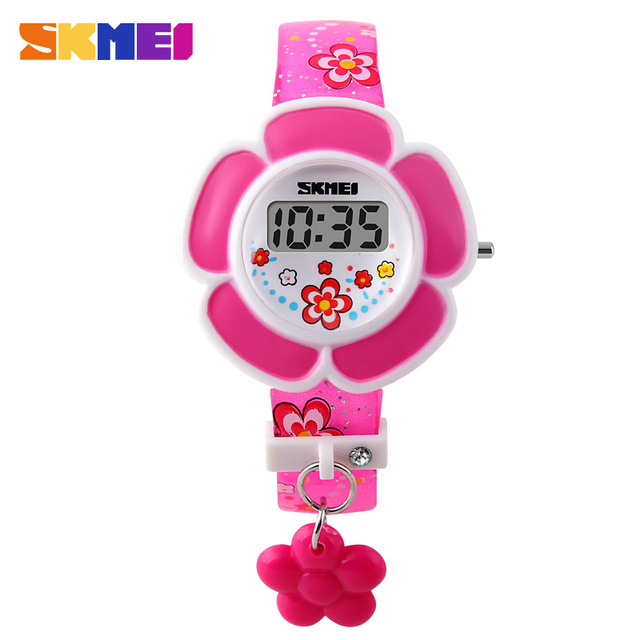 SKMEI Popular Kids LED Digital Watch Children Girls Cartoon Fashion Casual Watch